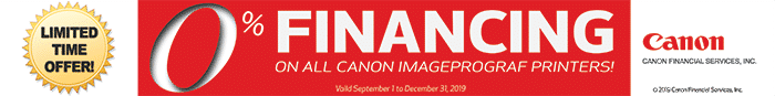 Canon 0 % financing special